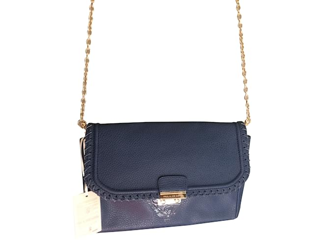 Paul Joe Sister Handbag Handbags Leather Blue Ref 29061