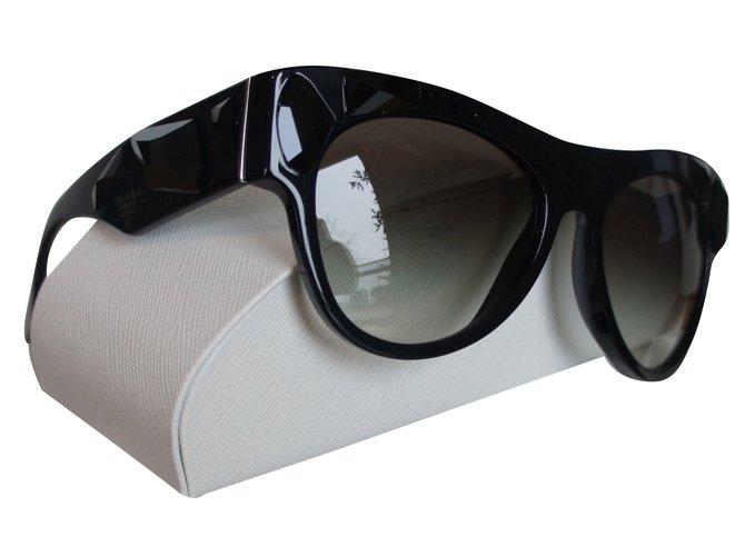 Lunettes Prada Lunettes Plastique Noir ref.29092 - Joli Closet 1c4cd679dede
