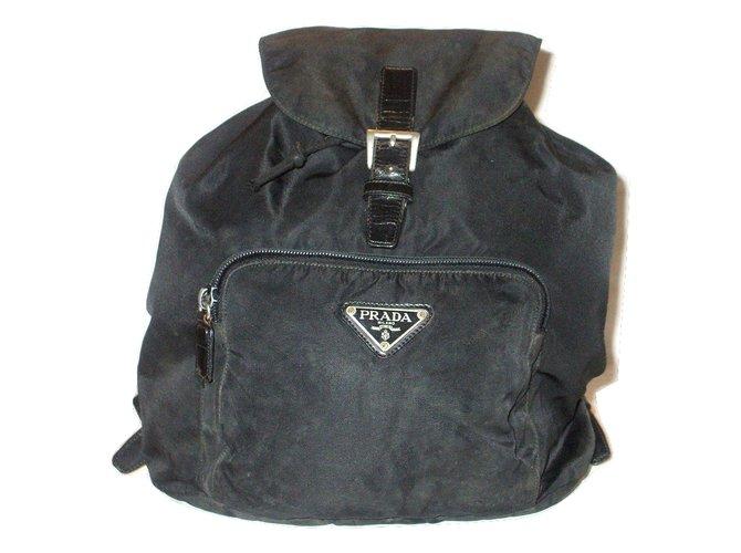 c4c8e8de45fe Prada Prada Backpack Bags Briefcases Nylon Black ref.29119 - Joli Closet