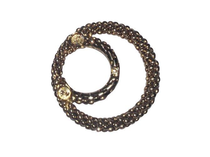 Carrés Yves Saint Laurent Bague ou anneau foulard Plaqué or Doré ref.29200 2cee8448164
