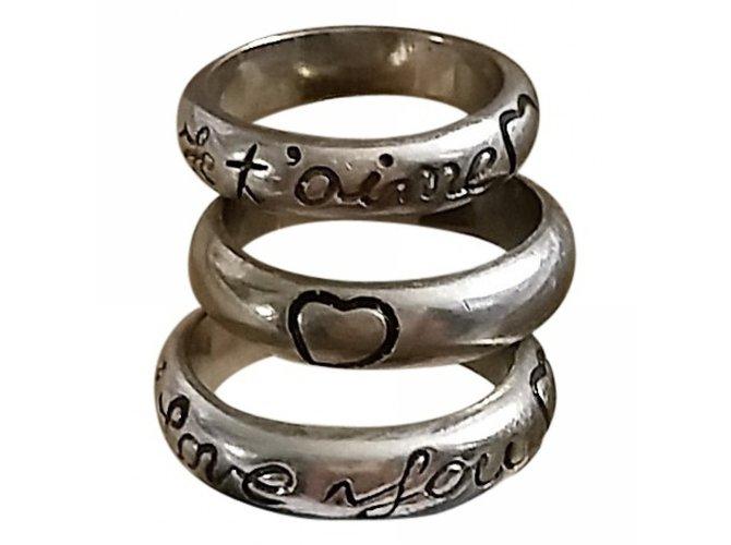 79c59ec1ba56 Yves Saint Laurent Rings Rings Silver Silvery ref.29223 - Joli Closet