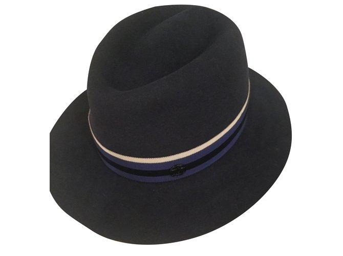 Maison Michel Hat Hats Other Blue ref.29493