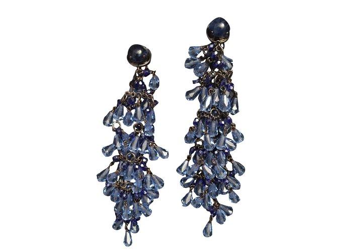 Emporio Armani Earrings Plastic Blue Ref 29507