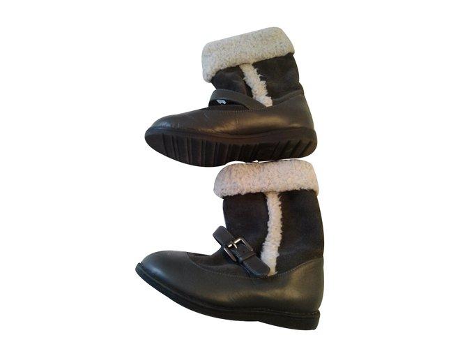 Autre Marque 'Verbaudet' Boots Boots Leather Black ref.29580