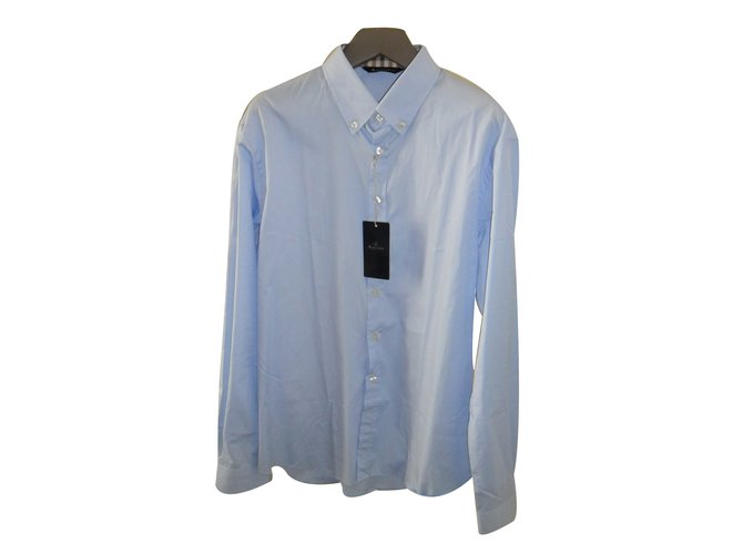 Aquascutum Shirt Shirts Cotton Blue ref.29611