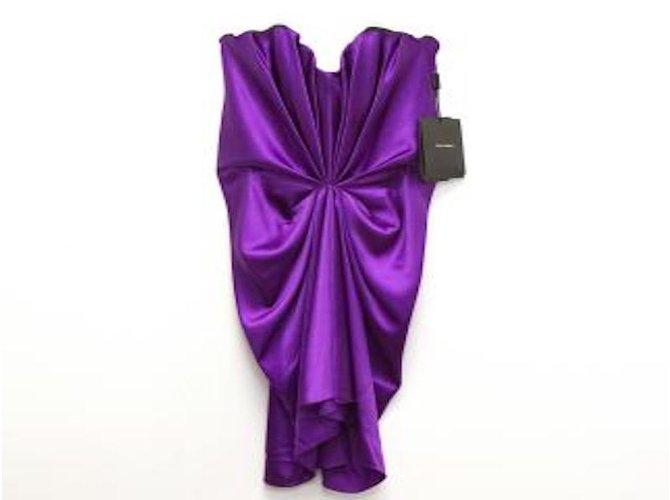 c8a25024 Dolce & Gabbana Dress Dresses Silk Purple ref.29918 - Joli Closet