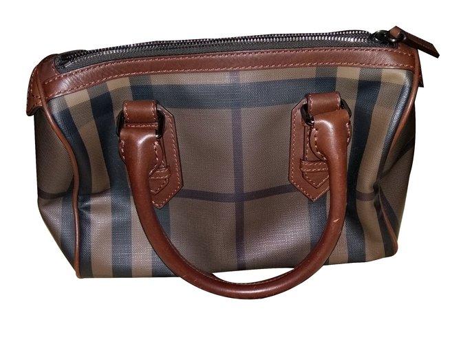 cd345485a499 Burberry Smoked Check Chester Bowling Bag Brown Handbags Leather. Burberry  Smoked Check Small Canterbury ...