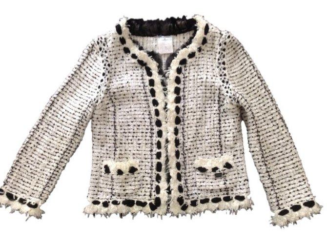 Chanel Jacket Jackets Tweed Black Ref 30252 Joli Closet