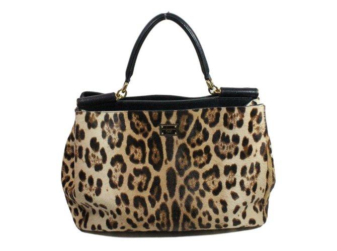 Dolce   Gabbana Handbag Handbags Other Leopard print ref.30295 ... 3e7579612dde5