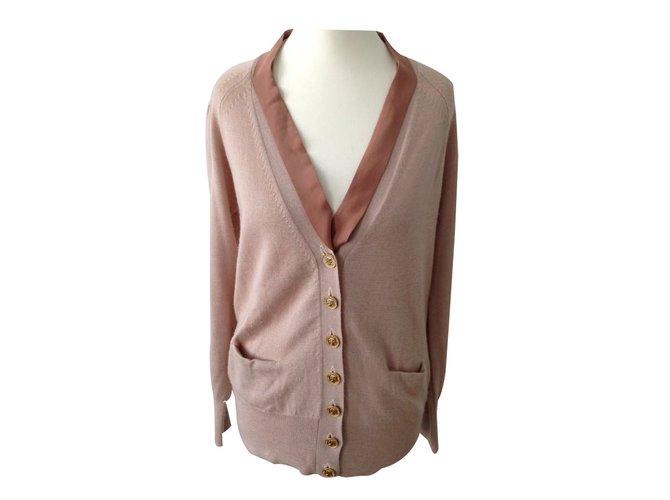 Chloé cardigan blush size 36 Knitwear Wool Pink ref.30326