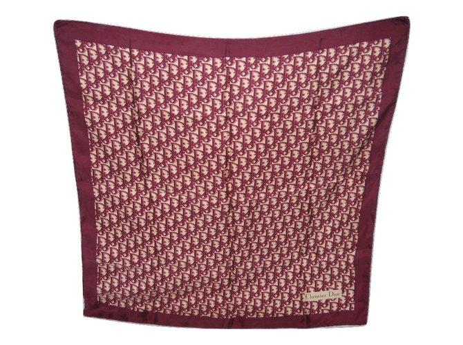 prix limité style moderne 100% authentique DIOR foulard vintage en soie logoté