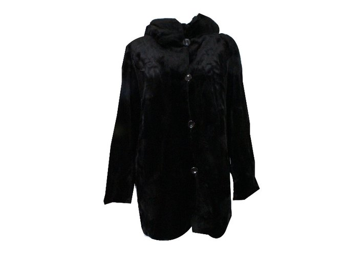 Black Shaved Mink Coat | RinDi Fur Coat