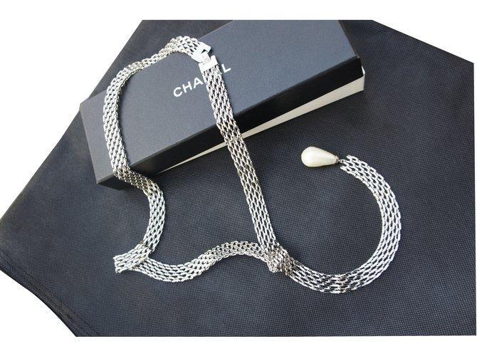 Colliers Chanel Collier Acier Argenté ref.30770