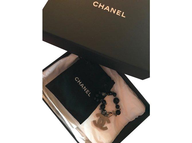 Bracelets Chanel Bracelet Perle Noir,gris anthracite ref.30859