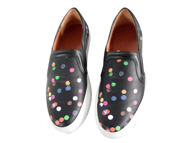 Baskets Givenchy Slippers Givenchy Confettis Cuir Multicolore ref.30921