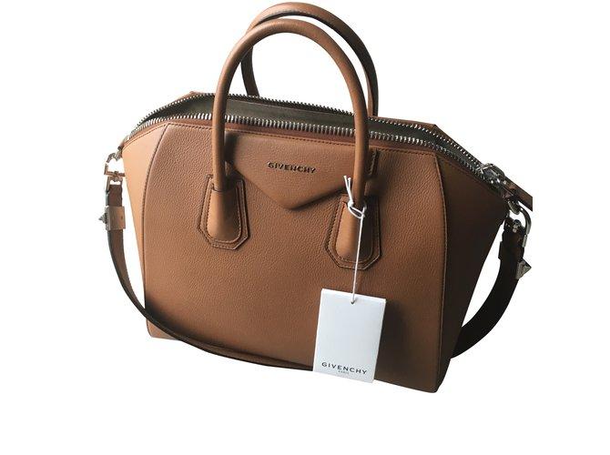 Sacs à main Givenchy Antigona Cuir Caramel ref.30941