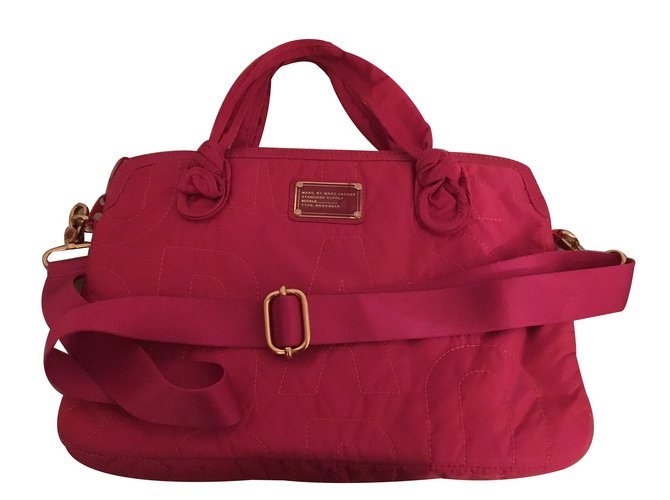 81df243776 Marc by Marc Jacobs Travel bag Travel bag Cloth Pink ref.30972 ...
