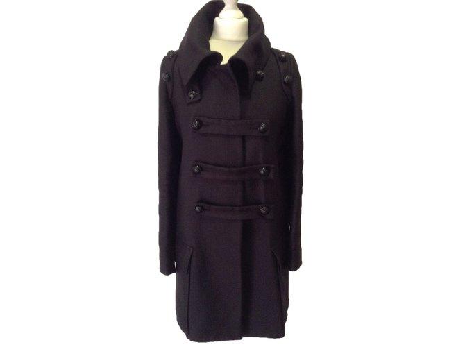 Manteaux Balmain Manteau Coton Noir ref.30975
