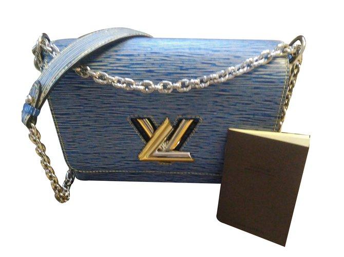 Sacs à main Louis Vuitton Twist epi denim défilé Cuir Bleu ref.31009