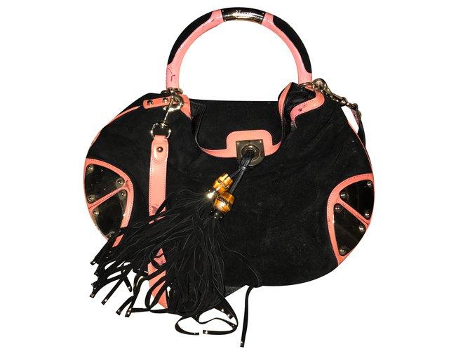 e1ed523d741d Gucci Handbag Handbags Velvet Black,Pink ref.31025 - Joli Closet