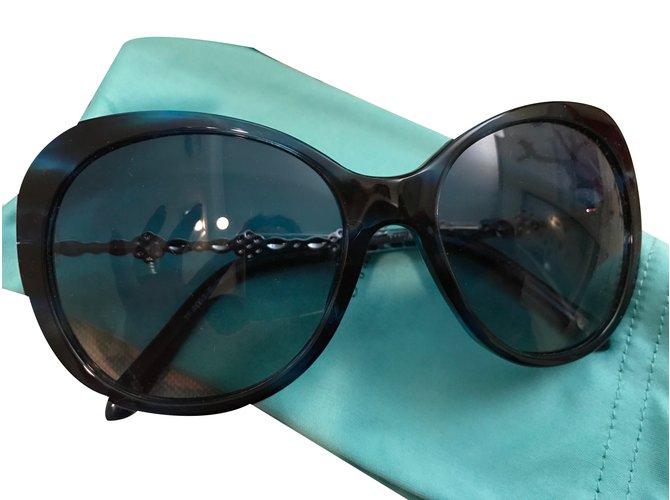 ddb20dea4b Tiffany & Co Sunglasses Sunglasses Plastic Black,Metallic ref.31120 ...