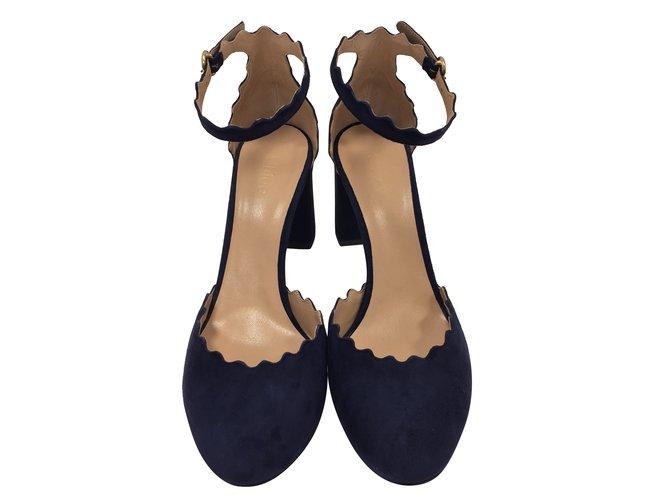 Chloé Blue sandals Sandals Suede Blue ref.31230