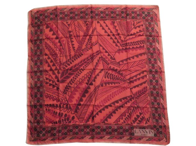 Foulards Lanvin Vintage soie Soie Autre ref.31336