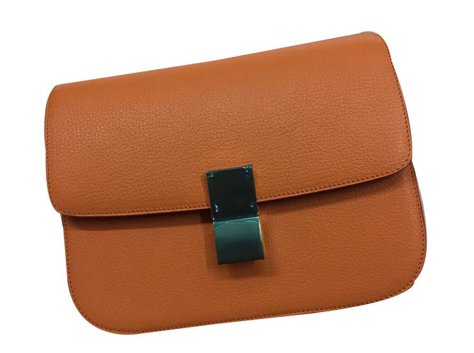 89838f3adb64 the latest 3b3a7 ab08d Céline Classic bag Handbags Leather Orange ref.31399  ...