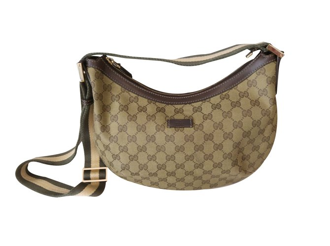 ecf78cd221f5 Gucci Sac à main Travel bag Leather Green ref.31414 - Joli Closet