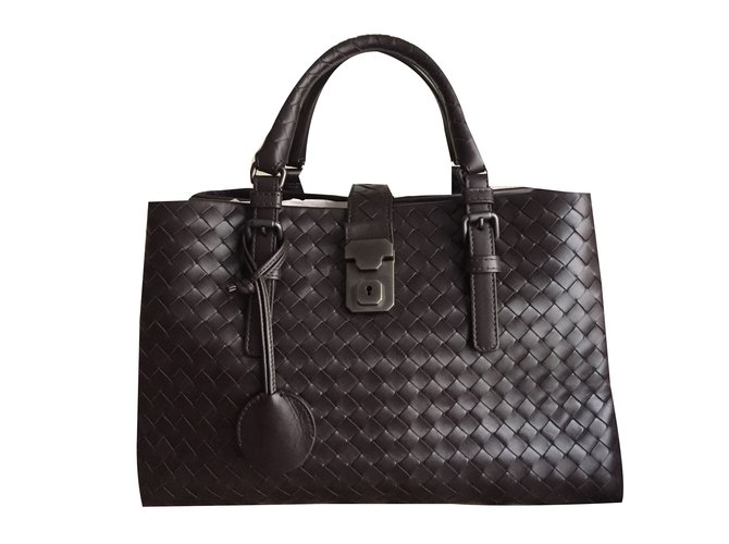 Bottega Veneta Roma Handbags Leather Brown Ref 31552