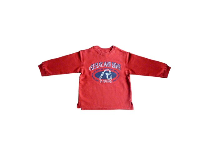 Autre Marque REPLAY weater Sweaters Cotton Red ref.31906