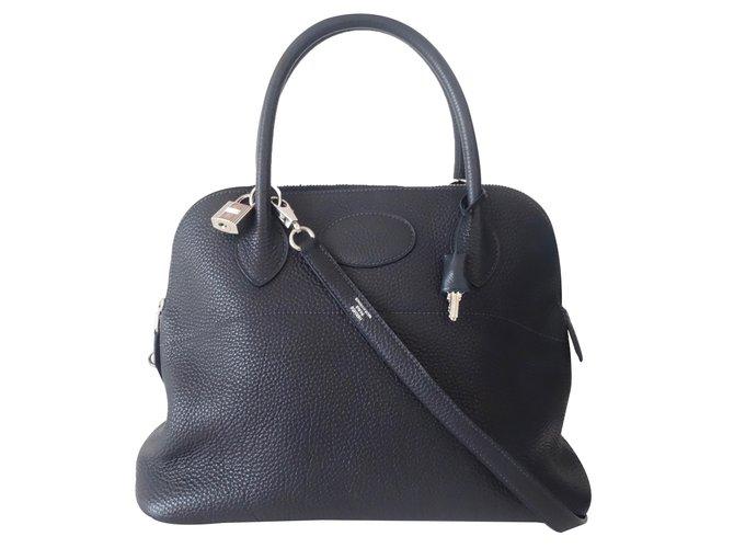 b32ffdace2cbd Hermès Handtasche Handtaschen Leder Blau ref.31931 - Joli Closet