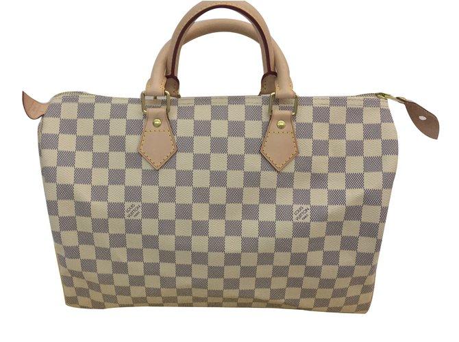 9f381ad75954 Louis Vuitton Speedy Damier Azur 35 Handbags Synthetic Multiple colors  ref.32064