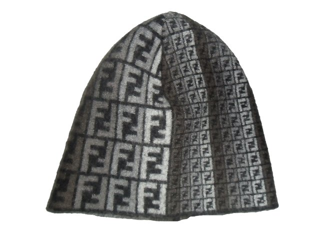 Fendi Hat Hats Wool Black 9e8bfdd246
