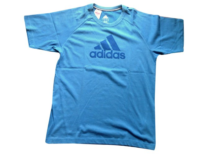 Adidas Top Tops Tees Cotton Blue ref.32217