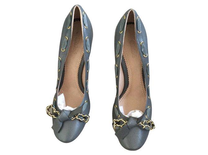 Chloé Heels Heels Leather Grey ref.32252