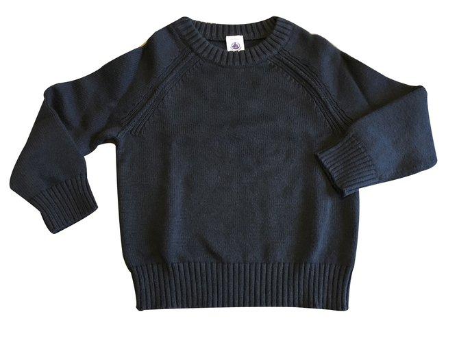 Petit Bateau Sweater Sweaters Wool Blue ref.32544