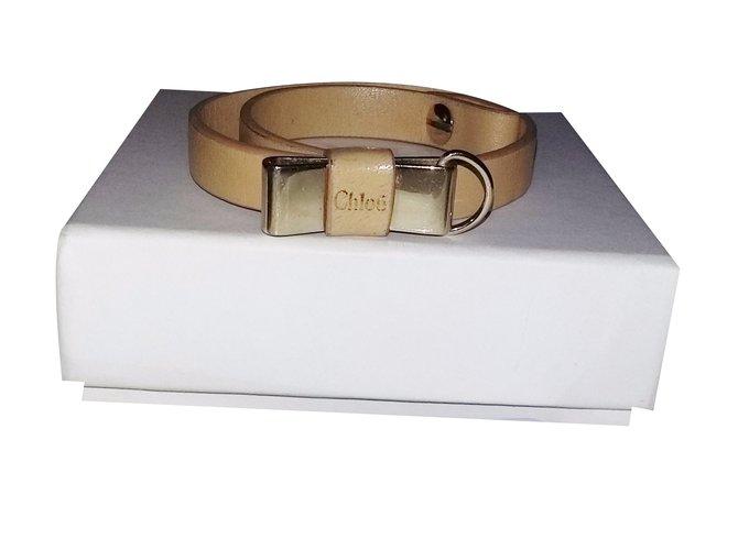 Chloé Bracelet Bracelets Leather Flesh ref.32574