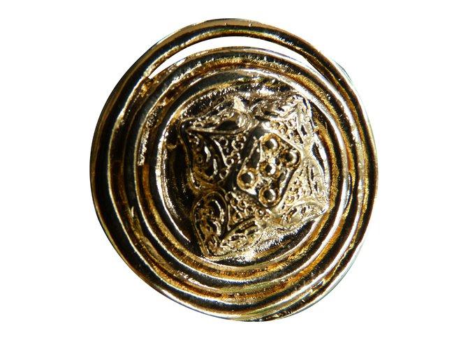 bb5ef353125a4 Yves Saint Laurent Brooch Pins   brooches Metal Golden ref.32588 ...
