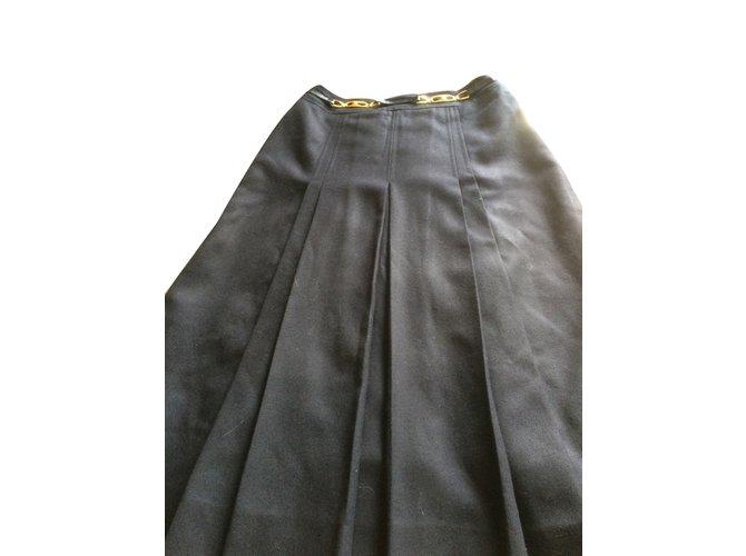 f72cea9cf773 Céline Skirt Skirts Wool Blue ref.33069 - Joli Closet