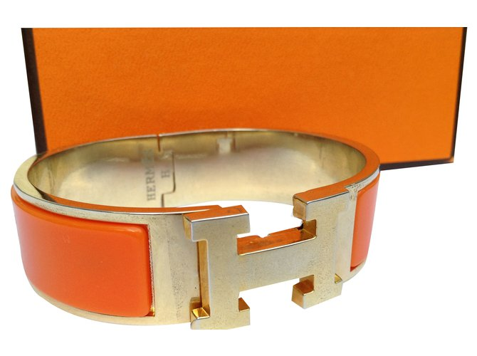 Bracelets Hermès BRACELET CLIC H Autre Orange ref.33081 - Joli Closet 2bb36260f34