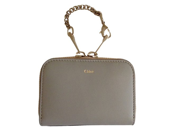 Chloé Baylee Purses, wallets, cases Leather Grey ref.33118