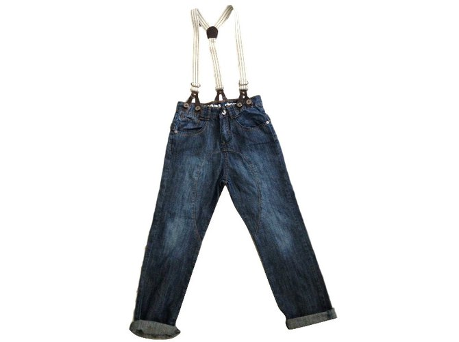 Autre Marque Jeans.Dept by kid's graffiti Blue Cotton  ref.33196