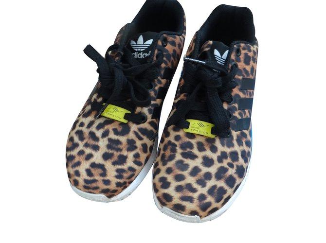 half off 70a0b 0b4e5 Adidas ZX FLUX Sneakers Cloth Leopard print ref.33243