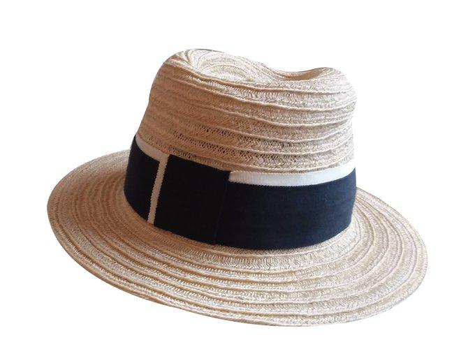 Maison Michel Hat Hats Straw Other,Cream ref.33330