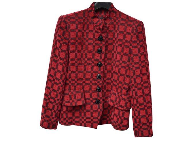 21c5e951108 Yves Saint Laurent jacket, blazer Jackets Velvet Dark red ref.33385 ...