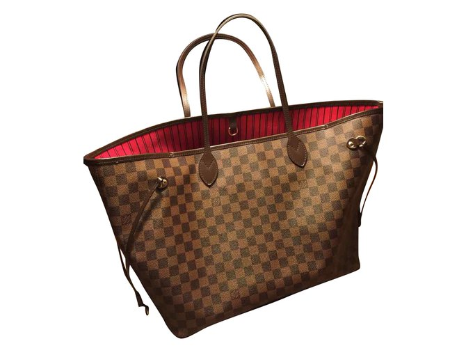 Sacs à main Louis Vuitton GM Cuir Marron ref.33515