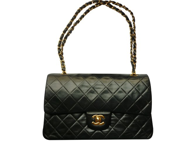 b1664cbd5369 Chanel Timeless classic model Handbags Leather Black ref.33739 ...