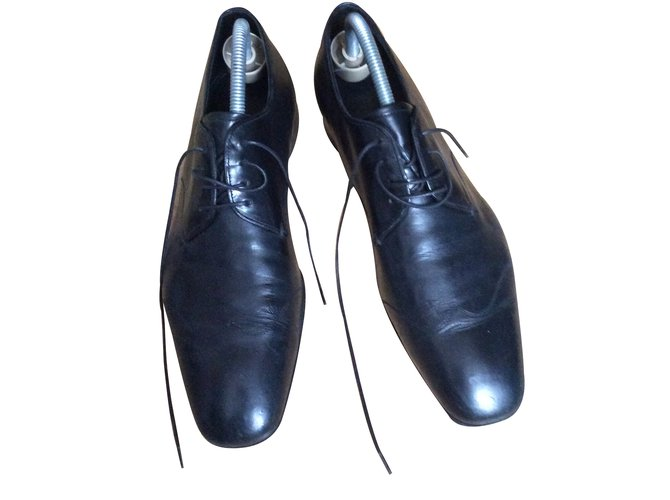 Prada shoes Boots Leather Black ref.33750 - Joli Closet 7e4836ad3a85