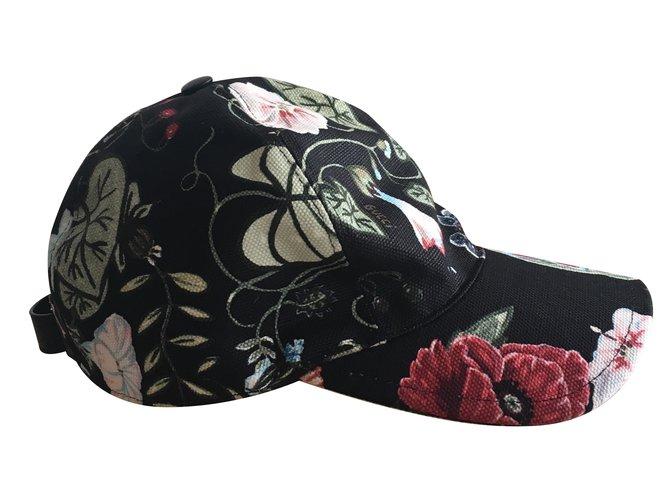 Chapeaux Gucci Casquette Coton Multicolore ref.34011 - Joli Closet 78b5b673d6e